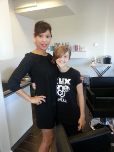 A big thanks to Cappy Reid for such an awesome haircut for Mattison!