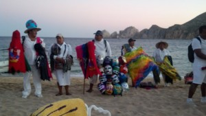 Vendors on the Beach in Cabo San Lucas